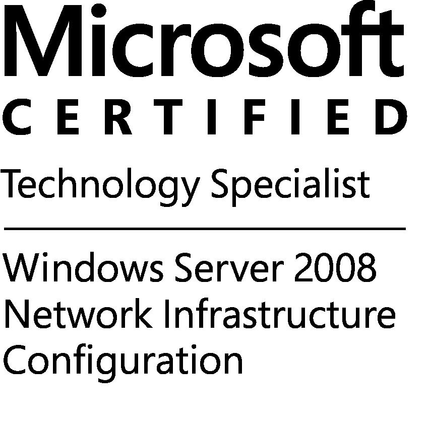 MCTS-WinSvr08NetInfrConfig-logo-BW