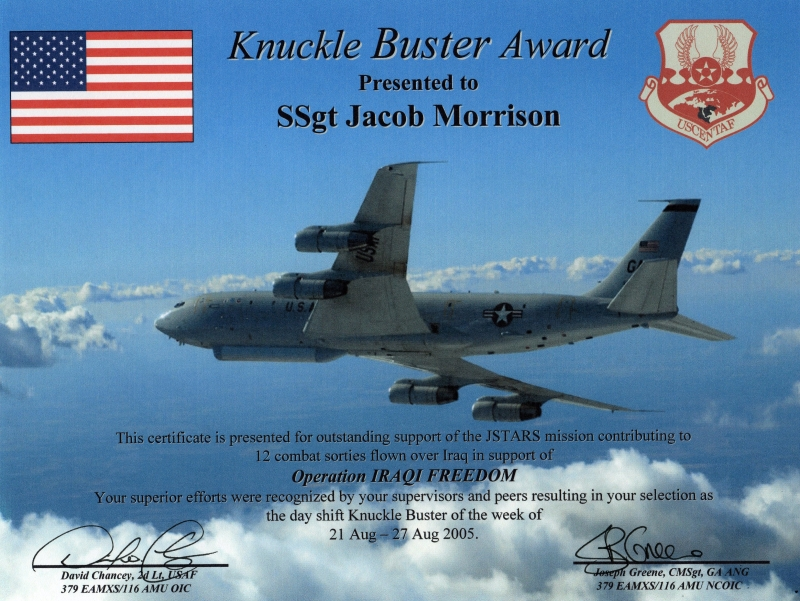 Knuckle Buster Award 2005 2