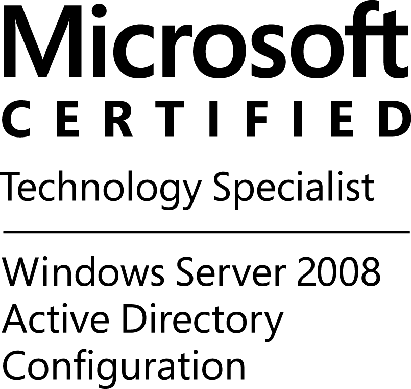 MCTS-WinSvr08ActDirConfig-logo-BW